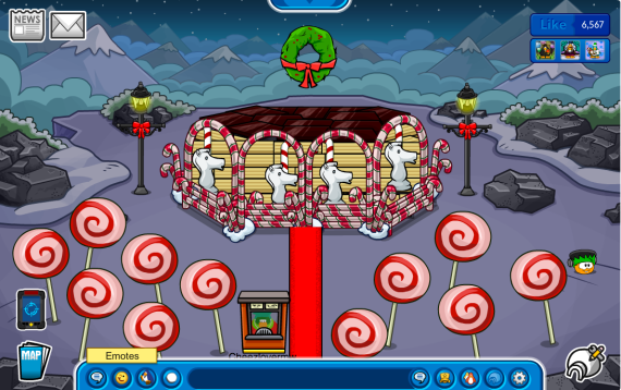Christmas merry go round igloo by Cheezlovermw